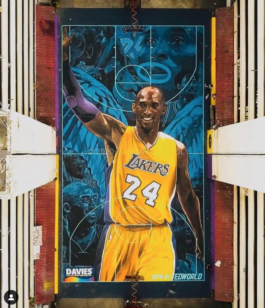 Kobe Bryant mural in the philippines