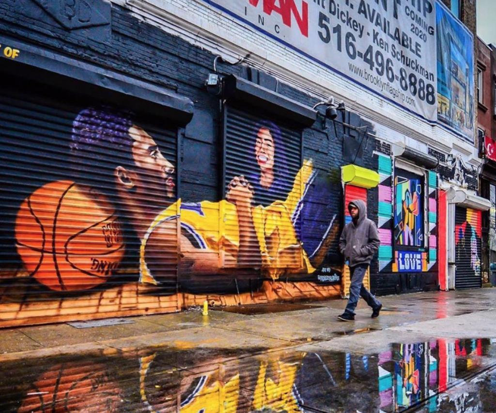 Kobe Bryant mural brooklyn