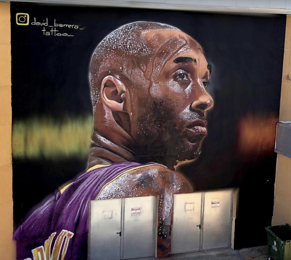 kobe bryant mural madrid