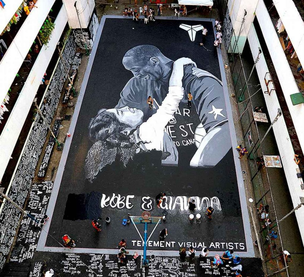 kobe bryant mural the philippines