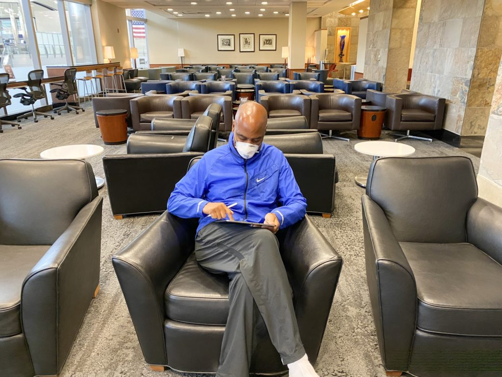 Empty lounge Lax